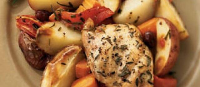 Roasted Chicken Thighs Provençal