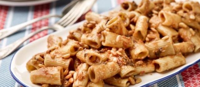 Rigatoni with Eggplant Puree Recipe | Giada De Laurentiis | Food ...