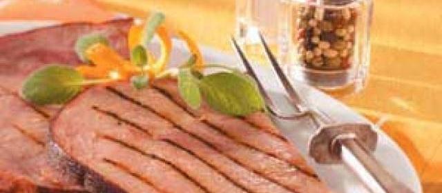 Marinated Ham Steak for 2