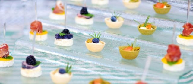 Fruit, Cheese, and Herb Skewers