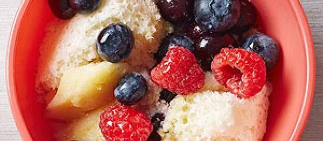 Lemon-Berry Pudding Cake