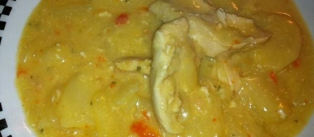 Slow Cooker Scalloped Potatoes with Chicken