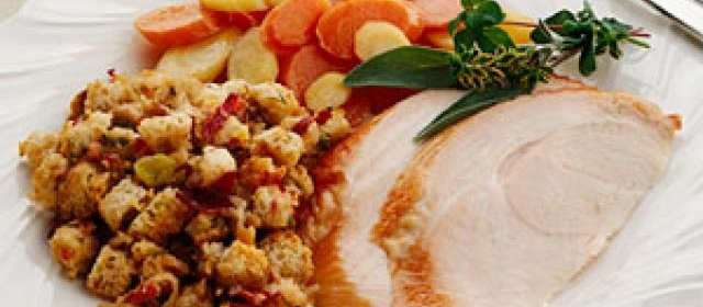 Smoked Turkey with Apple Stuffing
