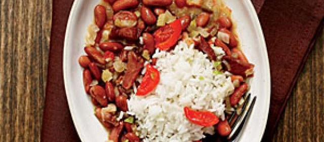 New Orleans Red Beans and Rice with Pickled Peppers Recipe ...