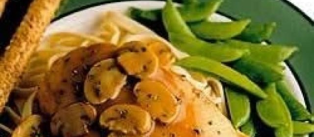 Chicken Marsala with Basil and Mushroom