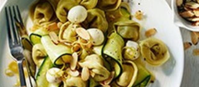 Spinach Cheese Tortellini with Zucchini, Mozzarella and Toasted ...