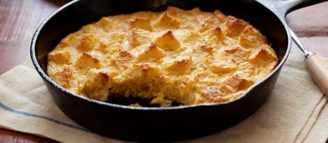 Sweet Corn Bread Pudding Recipe | Alton Brown | Food Network