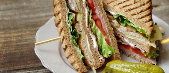 Turkey Club Sandwich with Pork Belly and Enhanced Mayo
