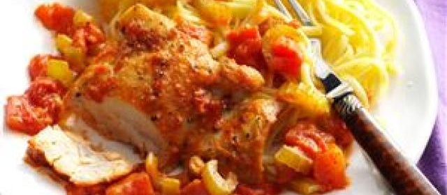 Chicken Thighs with Tomato-Vodka Sauce