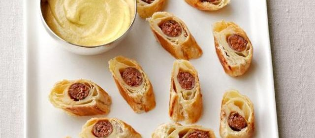 Lamb Sausage in Puff Pastry Recipe | Ina Garten | Food Network