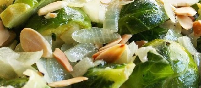 Brussels Sprouts with Toasted Almonds Recipe