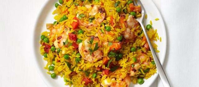 Spanish Shrimp and Rice Recipe | Food Network Kitchen | Food ...