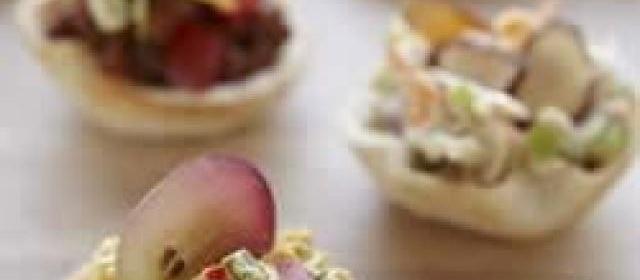 Wonder Bread Curried Chicken Salad Appetizer Croustades