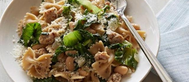 Pasta with Escarole, White Beans and Chicken Sausage Recipe ...