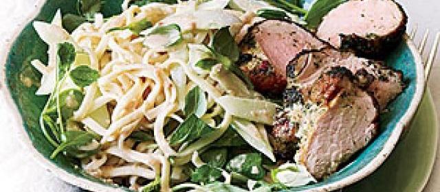 Peanut Noodle Salad with Cucumber and Roast Pork Recipe ...