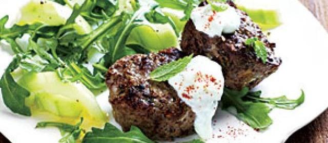 Mini Greek-Style Meat Loaves with Arugula Salad Recipe ...