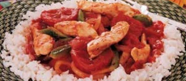 Chicken Cacciatore Over Rice