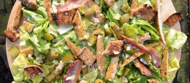 Autumn chestnut salad