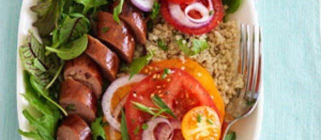Tomatoes With Sausage and Green Goddess Dressing Recipe ...