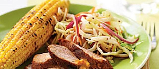 Spice-Rubbed Pork Tenderloin with Mustard Barbecue Sauce Recipe