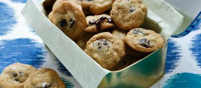 Mini Bittersweet Chocolate Chip Cookies with Flaky Sea Salt Recipe ...