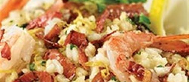 Lemon Risotto with Margherita® Prosciutto and Shrimp