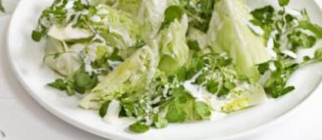 Green salad with buttermilk dressing