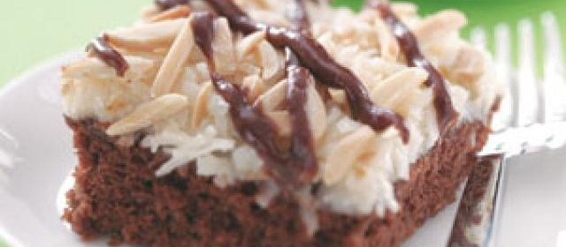 Best Coconut Chocolate Cake