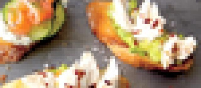 Creamy Crab Cocktail Salad on Garlic-Rubbed Crostini Recipe ...