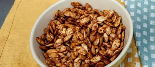 Pumpkin Spiced and Sugared Pumpkin Seeds Recipe