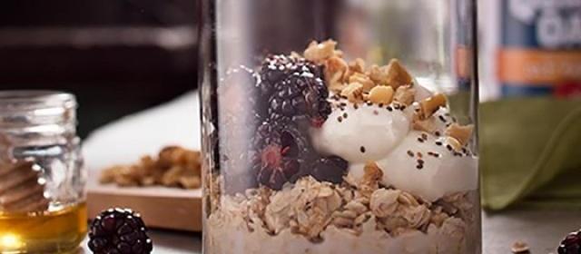 Blackberry Honey Walnut Overnight Oats