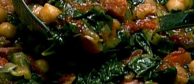 Neely's Chickpea, Ham and Swiss Chard Soup Recipe