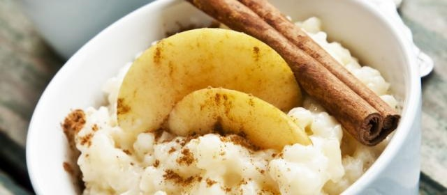 Rice Pudding with Fresh Pears and Honey