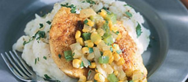 Pan-Fried Cornmeal Chicken with Corn and Onions Recipe ...