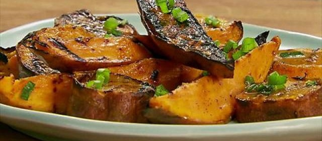 Grilled Sweet Potato Wedges with Orange-Molasses Butter Recipe ...