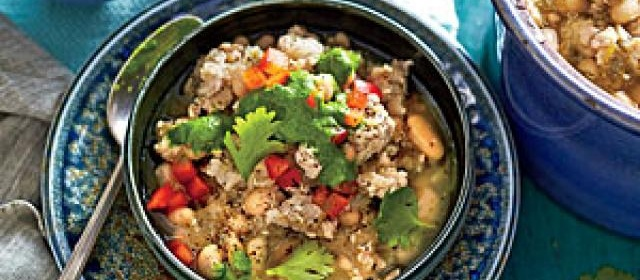 Slow-Cooker Turkey Chili with Quinoa