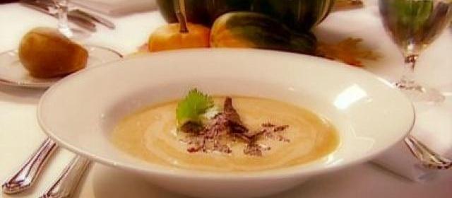 Sweet Potato Soup with Blue Corn Tortillas