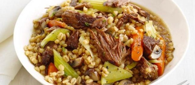 Slow-Cooker Beef and Barley Recipe