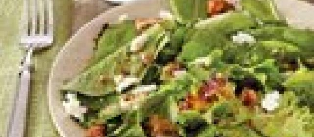 Salad Greens with Goat Cheese, Pecans and Sherry Vinaigrette ...