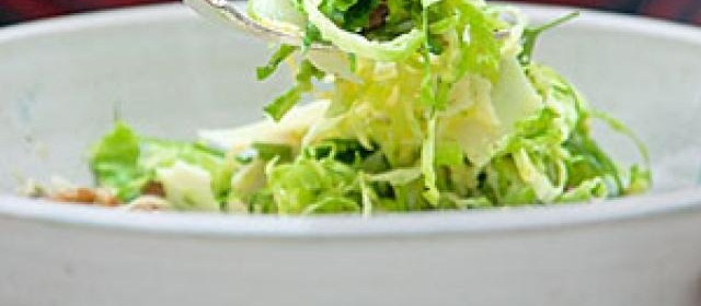 Shaved Brussels Sprouts Salad with Dijon Vinaigrette Recipe ...