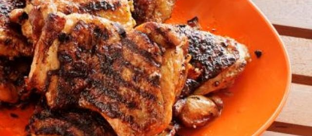 Dirty P's Garlic-Ginger Chicken Thighs