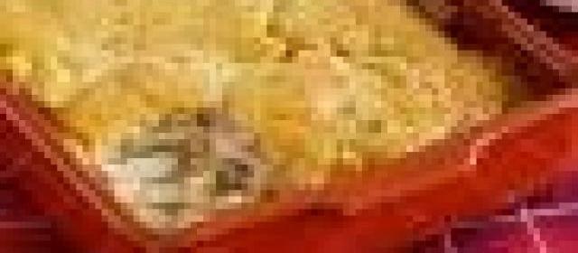 Chicken Pie with Biscuit Crust