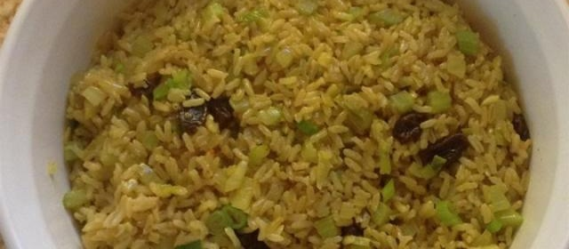 Rice Pilaf with Raisins and Veggies