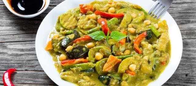 Zucchini in Herbed Coconut Yogurt Curry