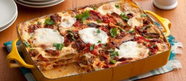 Sausage and Mixed Mushroom Lasagna Recipe | Food Network ...