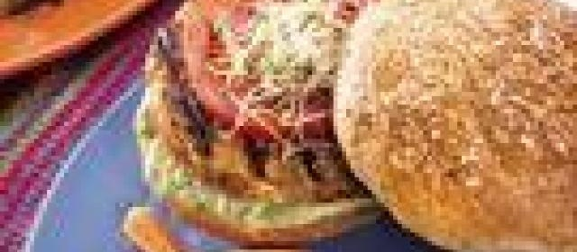 Turkey Burgers with Avocado Mayonnaise
