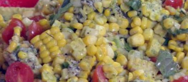 Grilled Corn and Tomato-Sweet Onion Salad with Fresh Basil ...