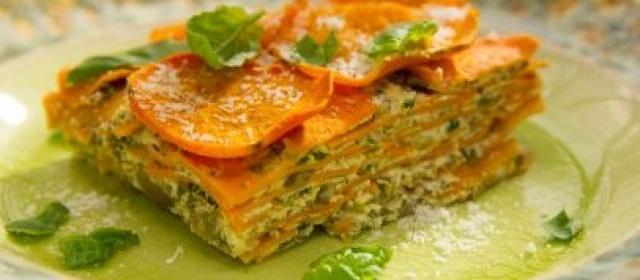 Sweet Potato and Mushroom Lasagna