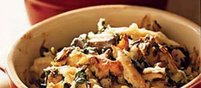 Chicken and Rice Casserole with Spinach and Shiitakes Recipe ...