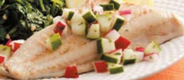 Perch with Cucumber Relish